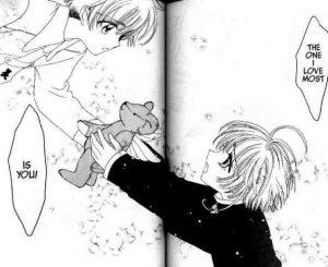 A romantic scene from Cardcaptor Sakura.