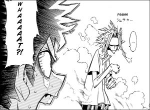 Small sound in the back after All Might Changes back to his real size