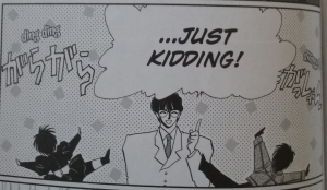 """Tokyo Babylon Vol. 1.5 """"Destiny"""": Seishiro, right after saying something incredibly cryptic."""