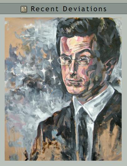 Rebecca's lost portrait of Stephen Colbert