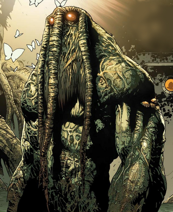 Man-Thing with butterflies