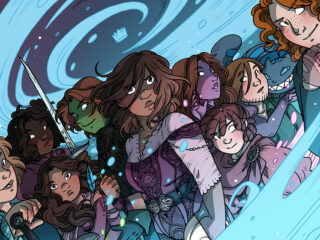 A picture of the main heroes of the webcomic Namesake